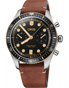 Oris Diving Back in Bronze Sixty-Five Chronograph 77177444354-0752145