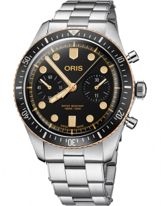 Oris Diving Back in Bronze Sixty-Five Chronograph 77177444354-0782118