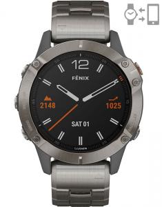 Garmin Fēnix® 6 Sapphire Titanium Gray set 010-02158-23
