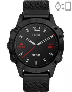 Garmin Fēnix® 6 Sapphire Black DLC Nylon set 010-02158-17